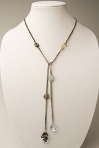 Leather Stone Lariat